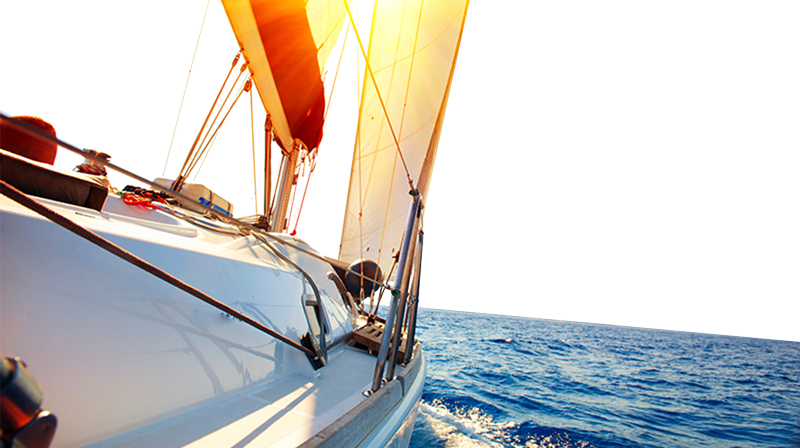 Sailboat on Water Background Image